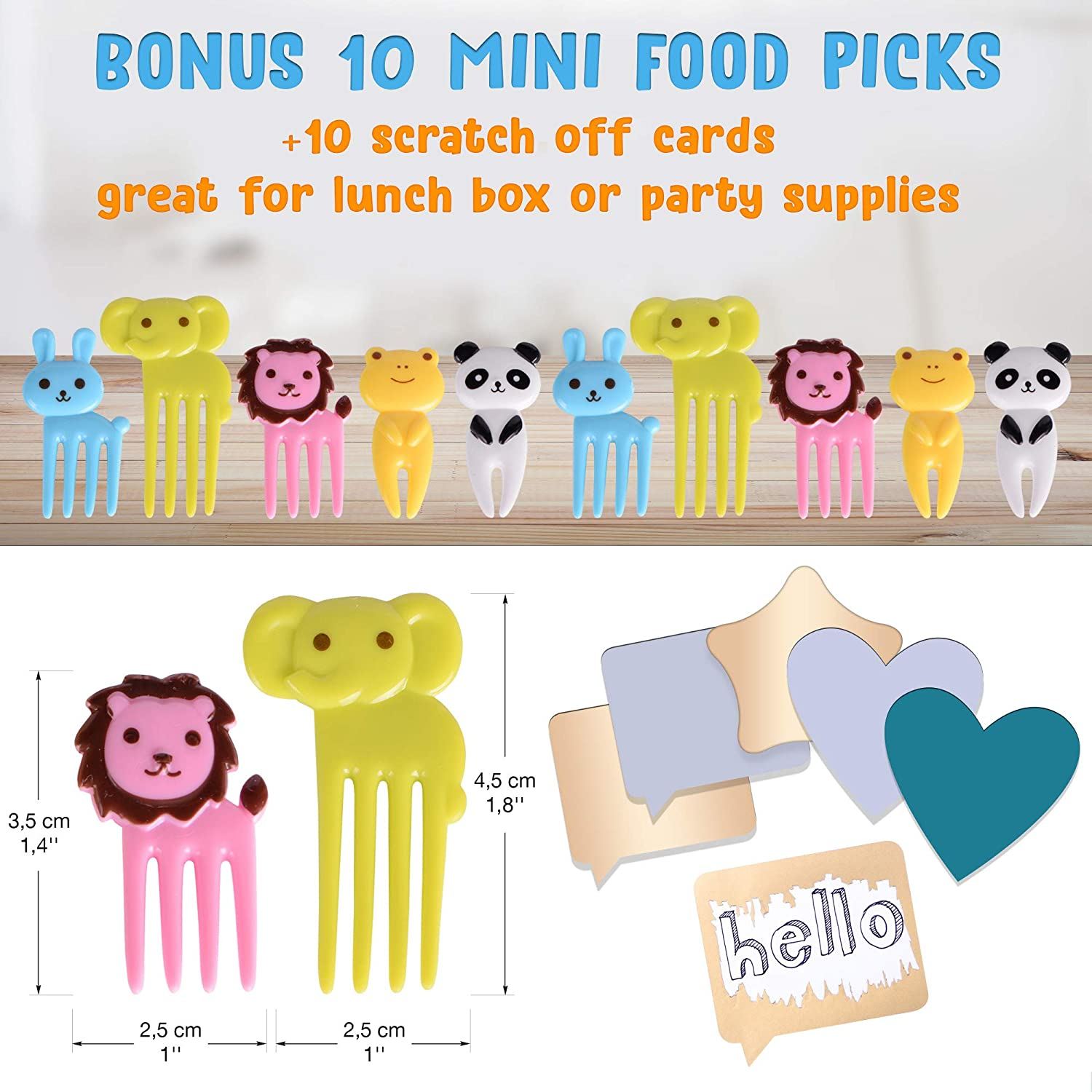 GET FRESH Sandwich Cutters for Kids – [20-pcs] Set with 5 Sandwich Shapes/Cookie Cutters/Bread Cutters – Comes with 5 Vegetable Cutters and Bonus 10 ...