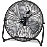 "Patton PUF2010CBM High Velocity Fan, 3-Speed, Black, 24-1/2""W x 8-5/8""H Overall Size"