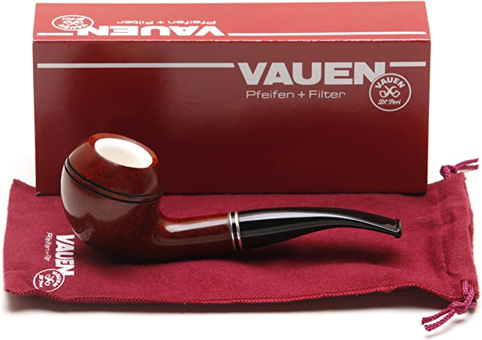 Vauen Meerschaum Lined 7008N Apple Bent Tobacco Pipe