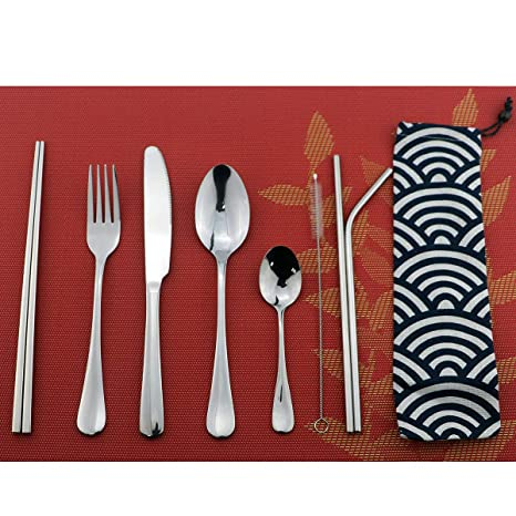 Camping Travel Cooking Utensils Set 8 Items