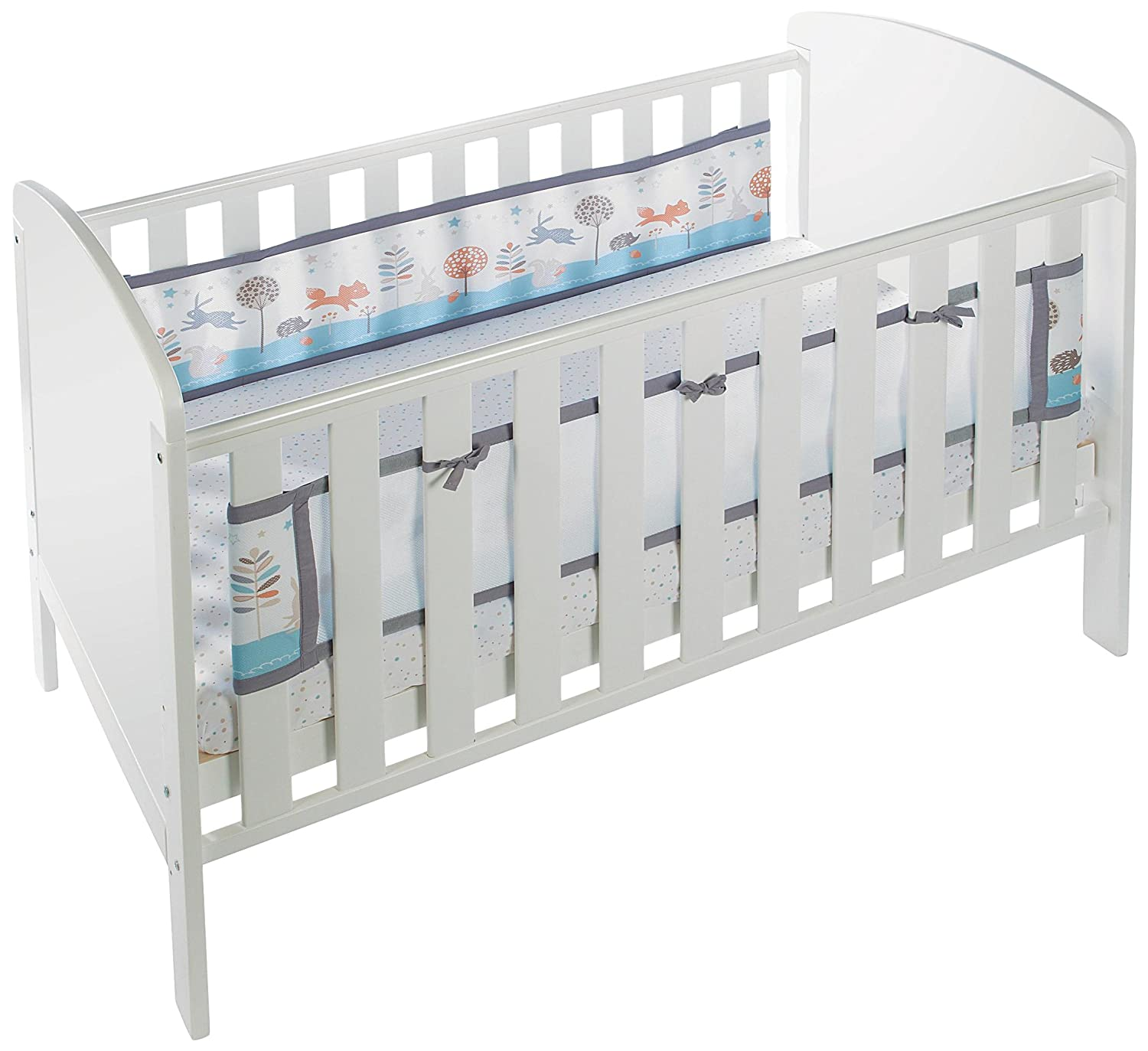 BreathableBaby 2 Sided Cot Mesh Liner (Enchanted Forest) ARD19432