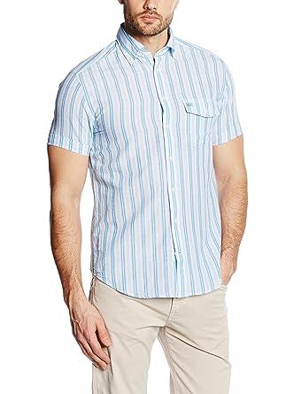 Pedro del Hierro Camisa Hombre Blanco/Azul M: Amazon.es: Ropa y ...