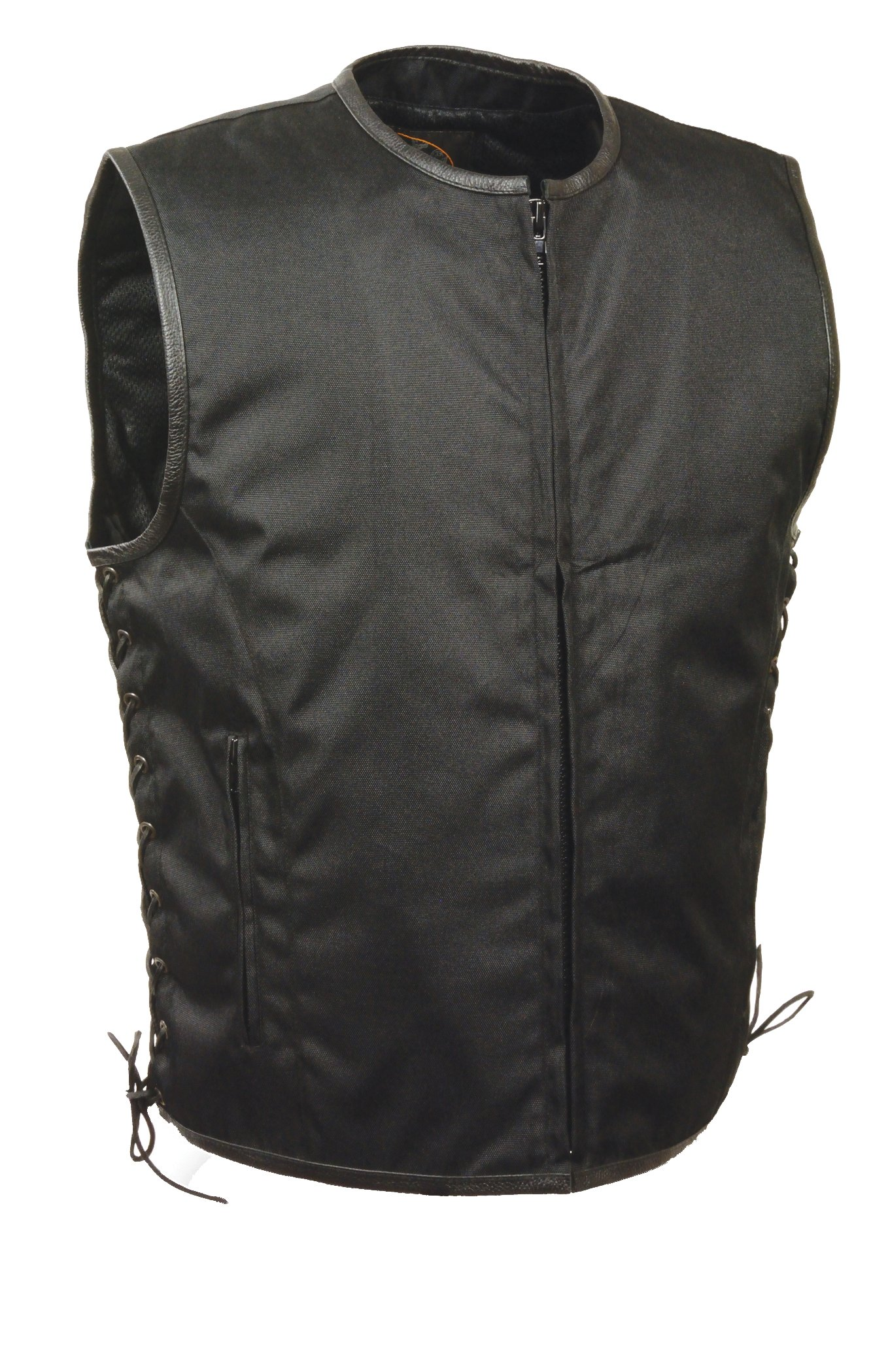 Milwaukee Performance Men's Basic Textile Vest with Leather Trims (Black, 4X-Large)