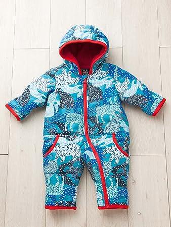 b4e52172b5bd4 LITTLE BEAR CLUB (リトルベアークラブ) ベビー アニマル 幾何柄 中綿 ジャンプ スーツ 赤ちゃん