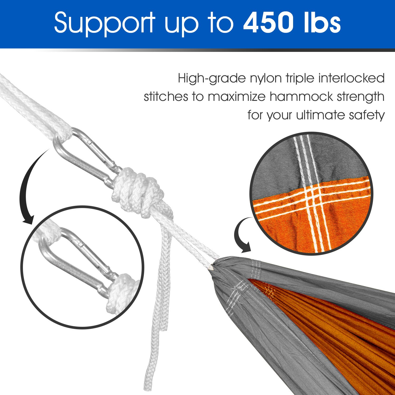 Yes4All Lightweight Camping Hammock with Carry Bag Multi Color Available Double Tree Strap Optional