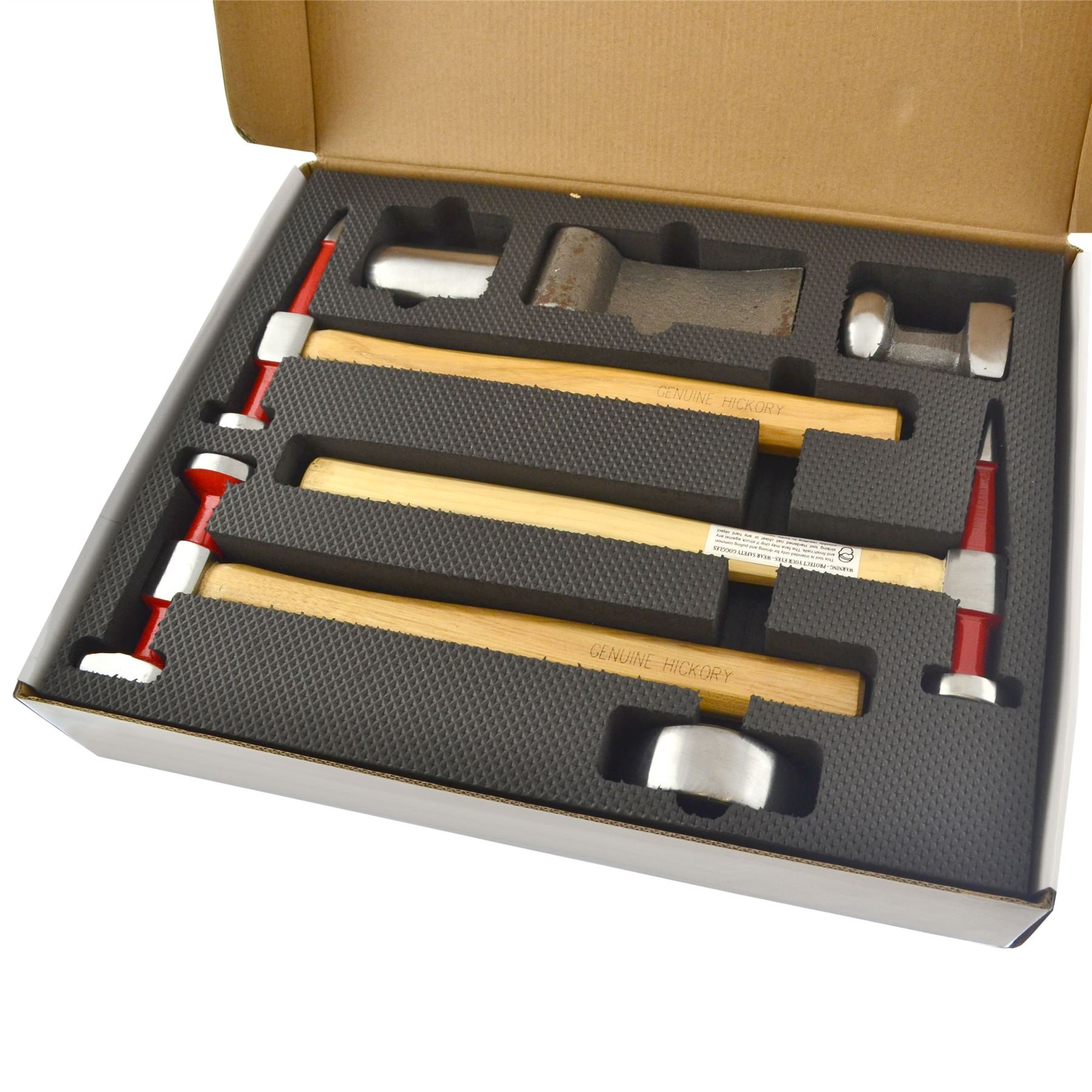 AB Tools-Neilsen Auto Body Repair Kit Panel Beating Hickory Hammers Dollies Shrinking 7pc AN021 by AB Tools-Neilsen (Image #2)