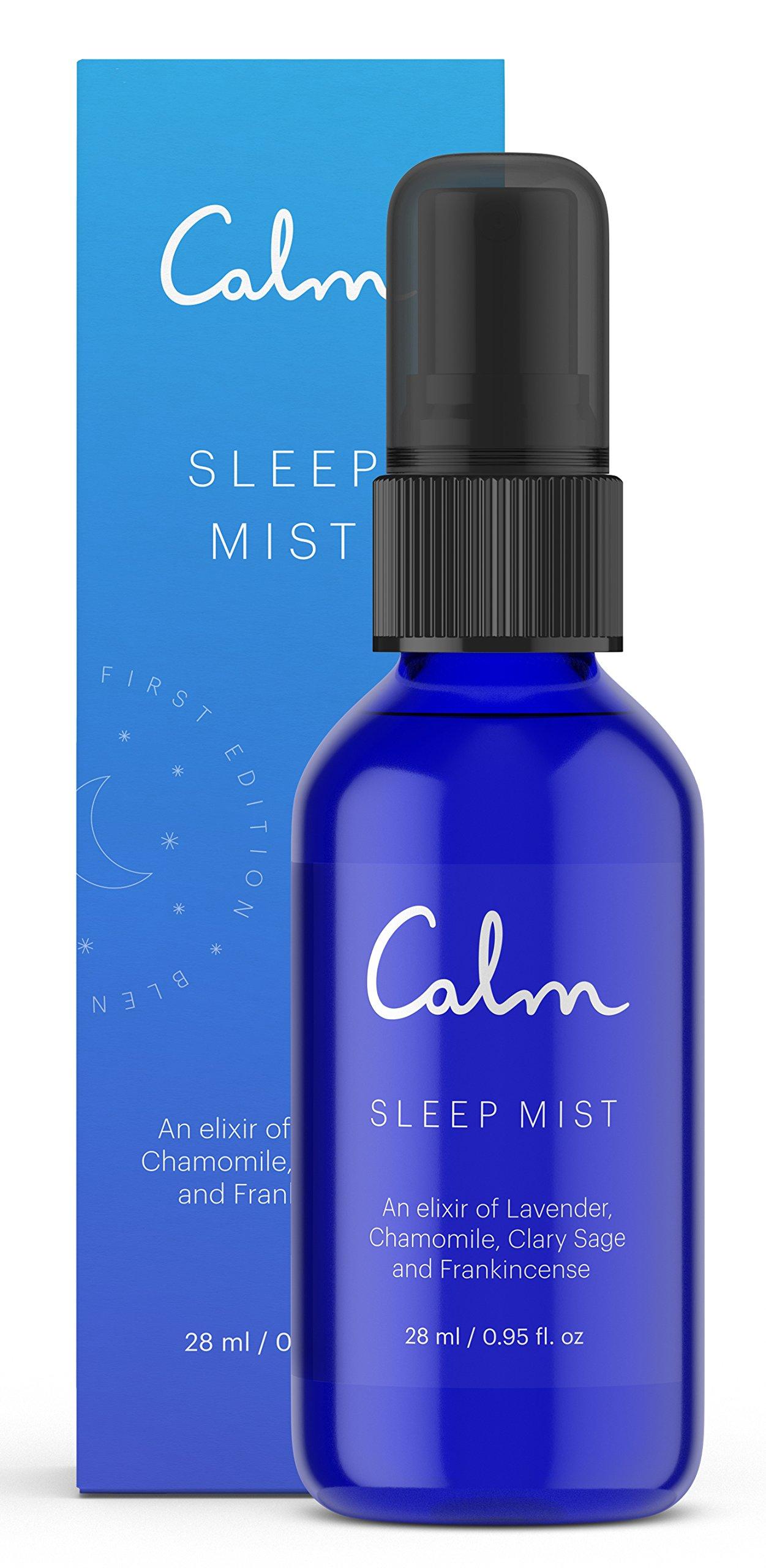 Calm Sleep Mist Pillow Spray with Essential Oils, Lavender, 28 ML by Calm