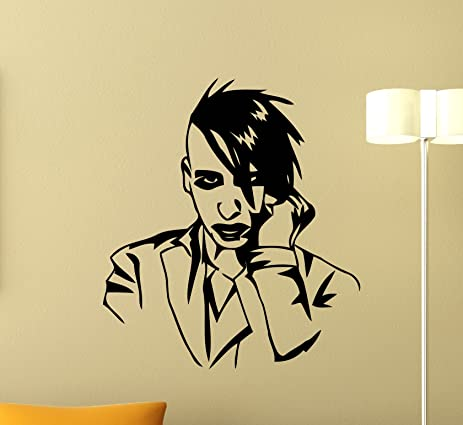 Marilyn Manson Wall Decal Rock Star Vinyl Sticker Industrial Rock ...