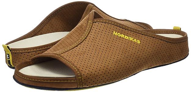 Nordikas Herren Soft Cab. Pantoffeln, Beige, 45 EU