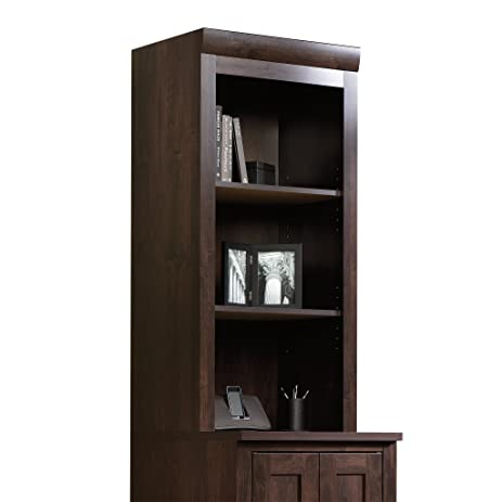 Amazon Sauder 408364 Office Port Hutch Dark Alder Kitchen