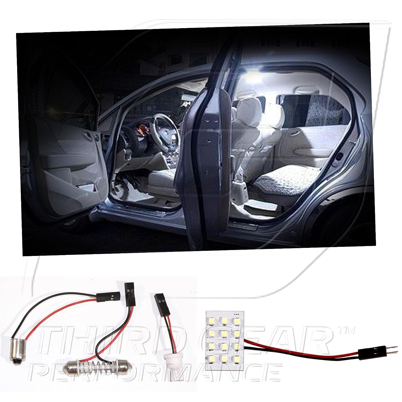 amazoncom tgp white 12 led smd panel light bulb for dome light application scion xb automotive