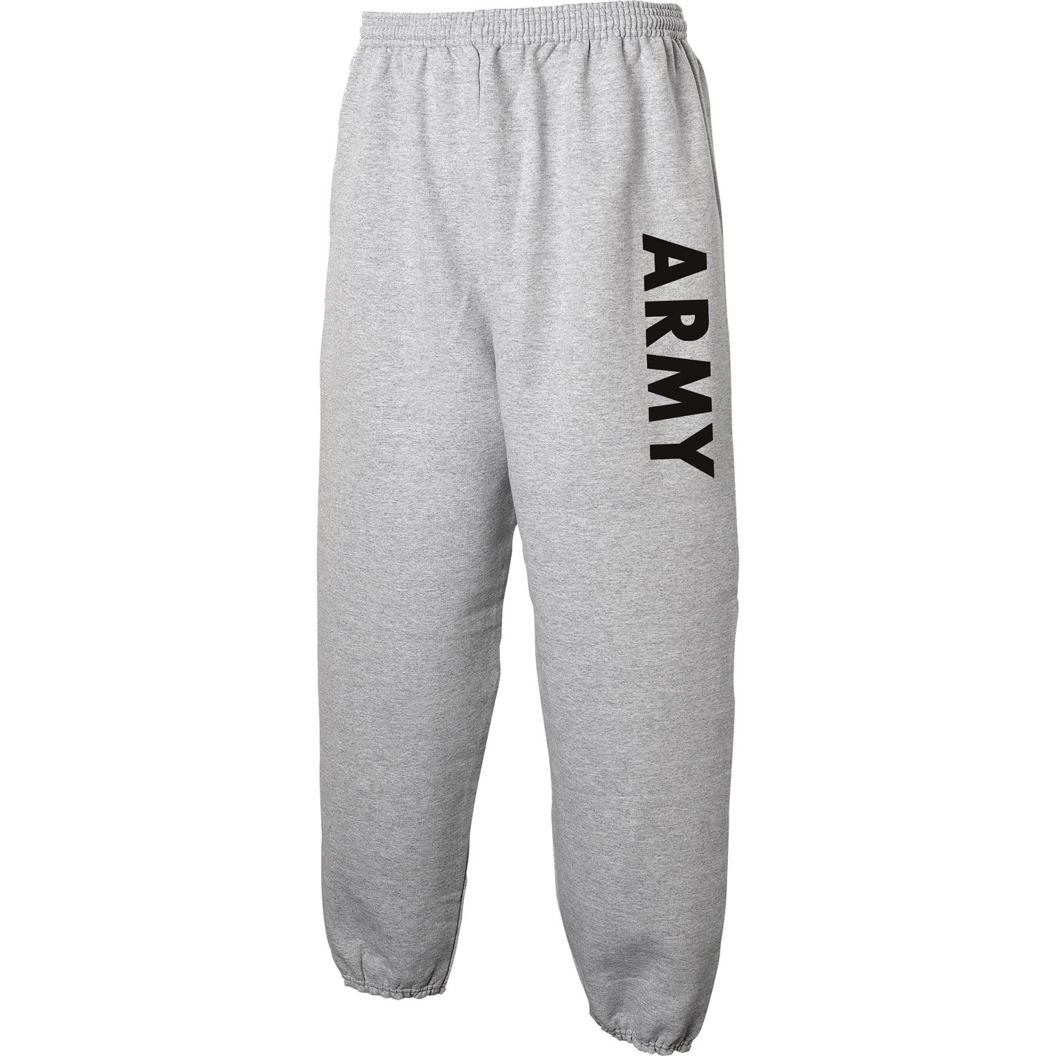 ARMY Sweat Pants - Military Style Physical Training Sweat Pants in Gray PA-1010