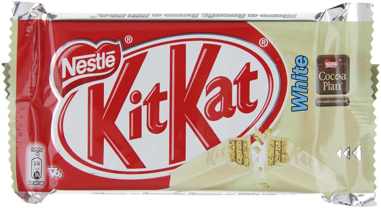 Kit Kat WHITE (four finger) - Box of 24 bars: Amazon.co.uk ...