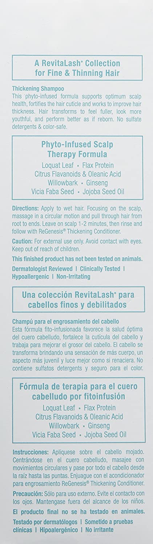 Amazon.com: RevitaLash Cosmetics, ReGenesis Thickening Shampoo Scalp Therapy Formula, 8.5 Fl Oz: Luxury Beauty