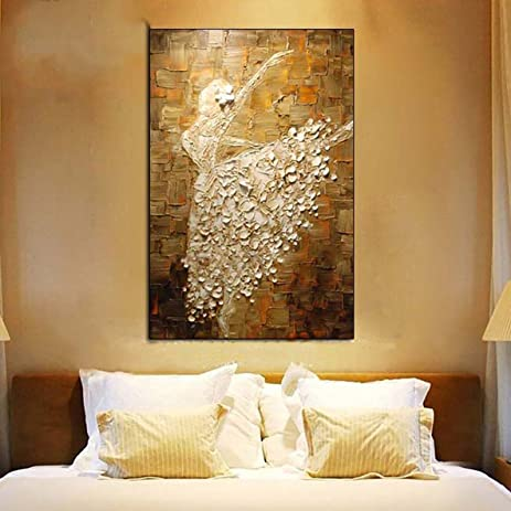 Canvas Oil Paintings Girls Room Decor Home Wall Decorations Art Ballet Dancer Contemporary Abstract