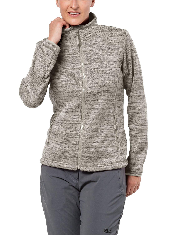 Jack Wolfskin Damen Aquila Track Jacket damen Melange-Optik Sportlich Systemreißverschluss Outdoor Fleecejacke