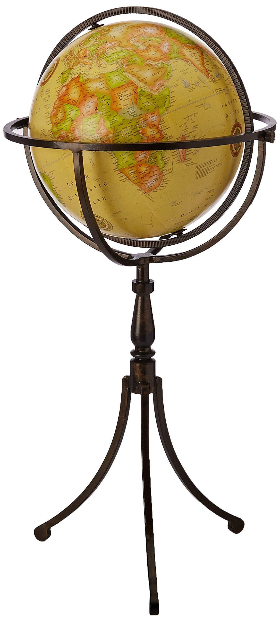 IMAX 20217 Vaughn Globe on Iron Stand