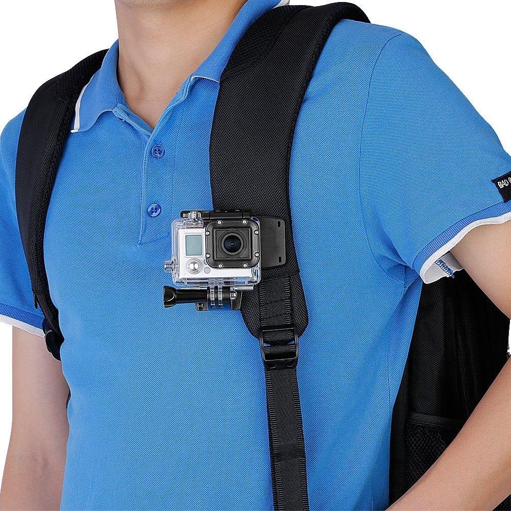 micros2u Pinza con Soporte compatible GoPro, muy resistente ...