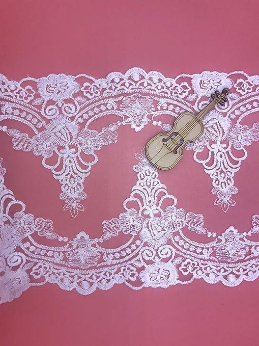 Vestido de encaje Hermoso Patrón De Bordado De 1 Yarda cinta de recorte de boda neto
