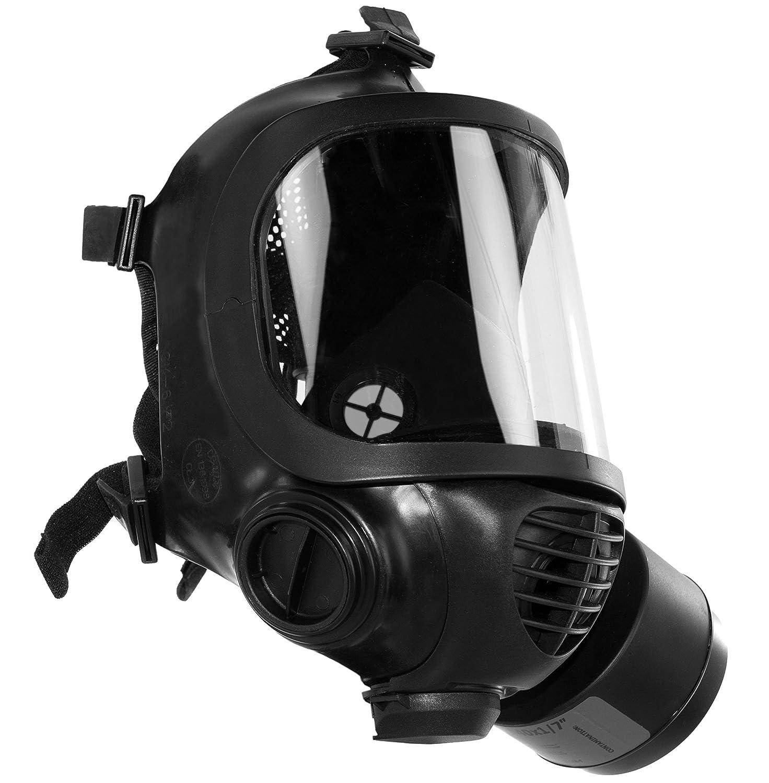 Máscara de gas ACE Calypso CM-6 con filtro Avec NBC-1 / SL | Protección respiratoria, certificado según EN 136: 1998 Clase 3 | Mascarilla completa contra ...