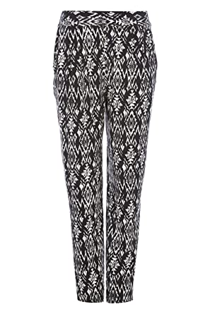Womens Ladies New Casual Aztec Long Comfy Harem Trousers//Pants Sizes 10-20