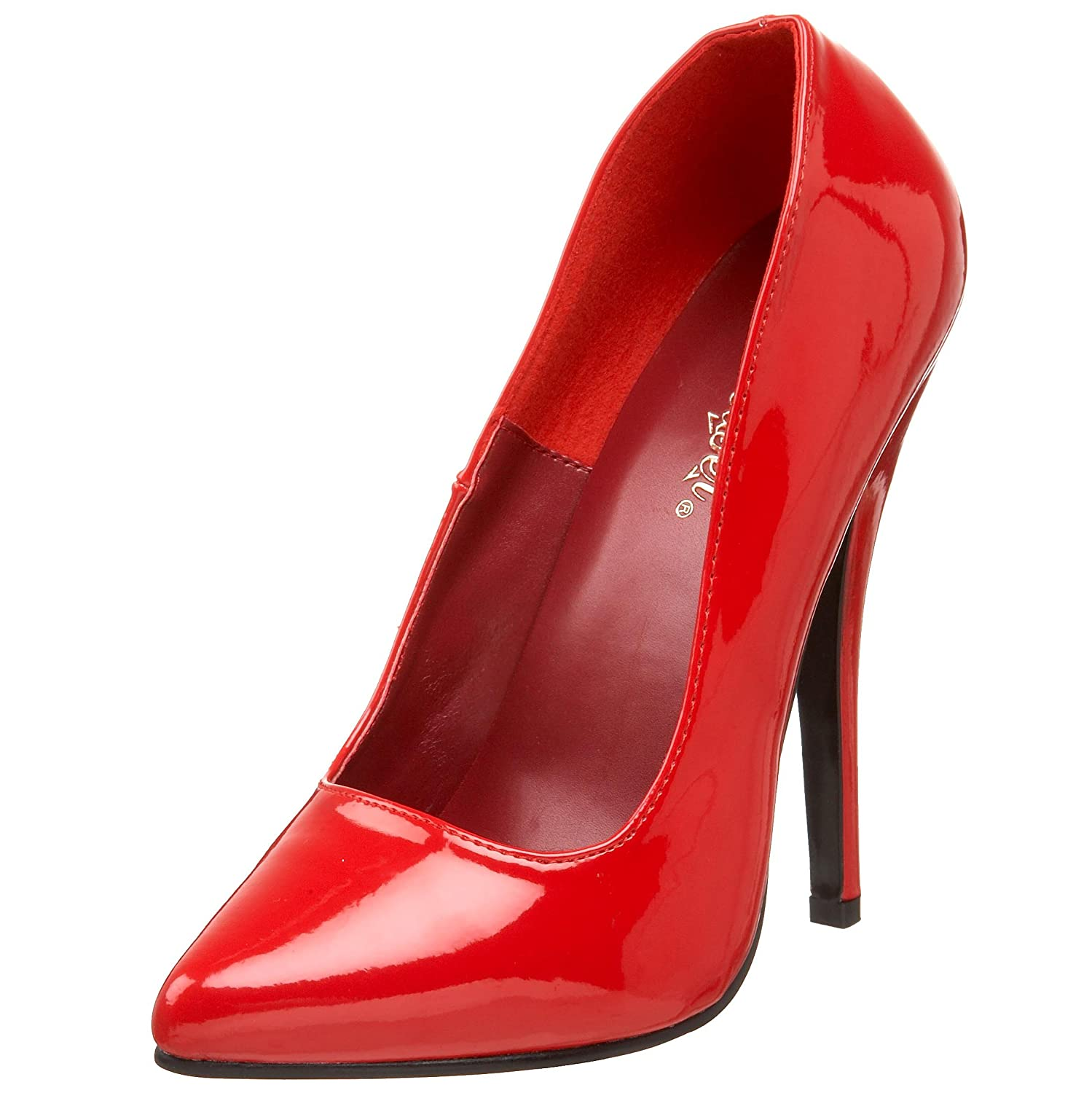 Red Patent Pleaser Women's Domina-420 Pump