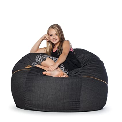 Ordinaire Jaxx 4 Ft Bean Bag Chair, Black Denim
