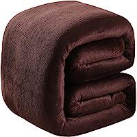 Soft Twin Size Summer Blanket All Season 350GSM Thicken Warm Fuzzy Microplush Lightweight Thermal Fleece Blankets for…