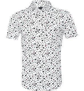 213f64401ad AIEOE Men s Floral Dress Shirt Short Sleeves Casual Hawaiian Button ...