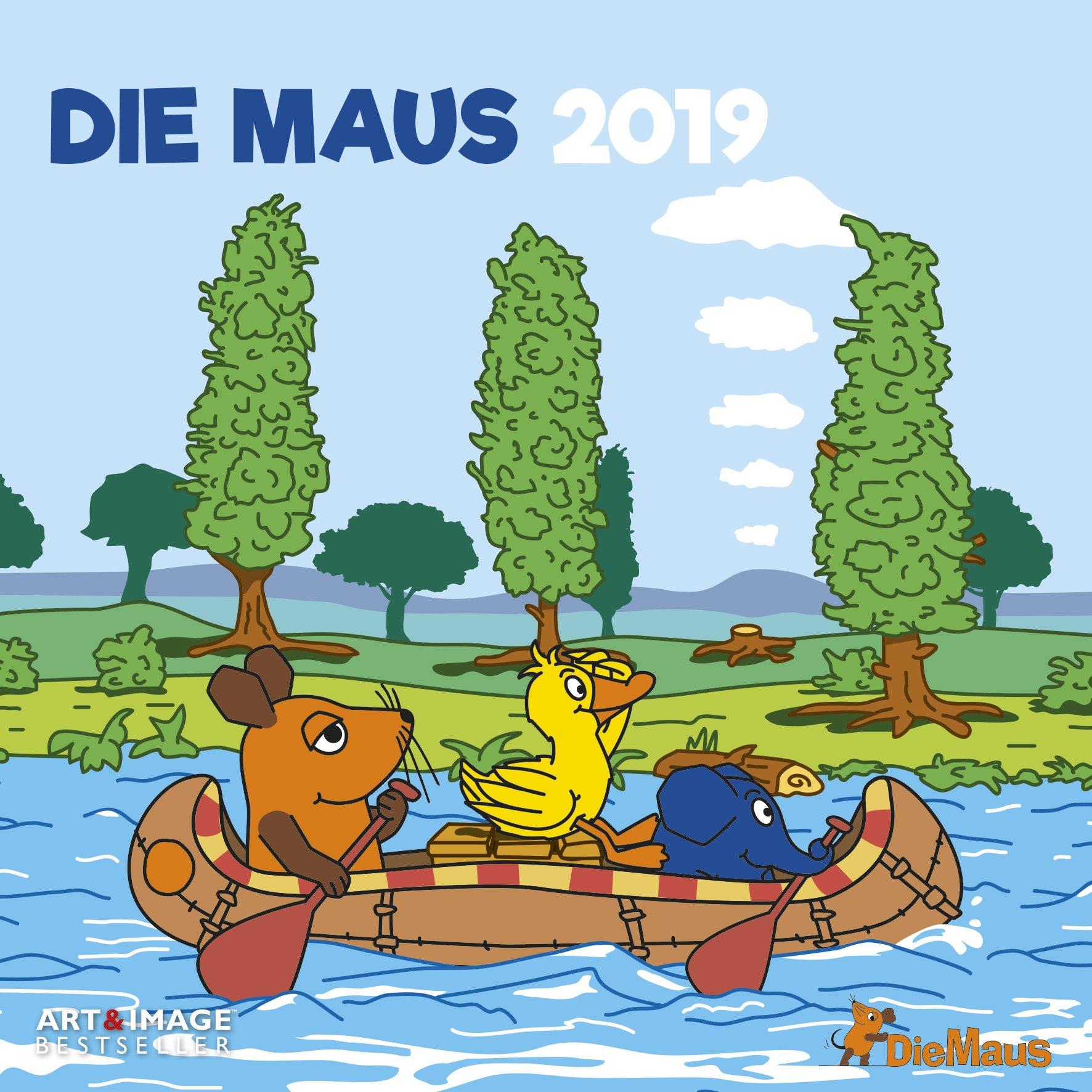 Der Kalender mit der Maus 2019 - Kinderkalender, Kalender für Kinder, Die Sendung mit der Maus  -  30 x 30 cm