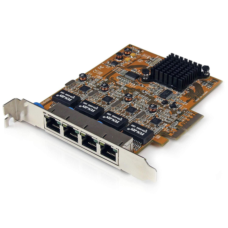 StarTech.com 4 Port PCI Express PCIe Gigabit Ethernet NIC Network Adapter Card
