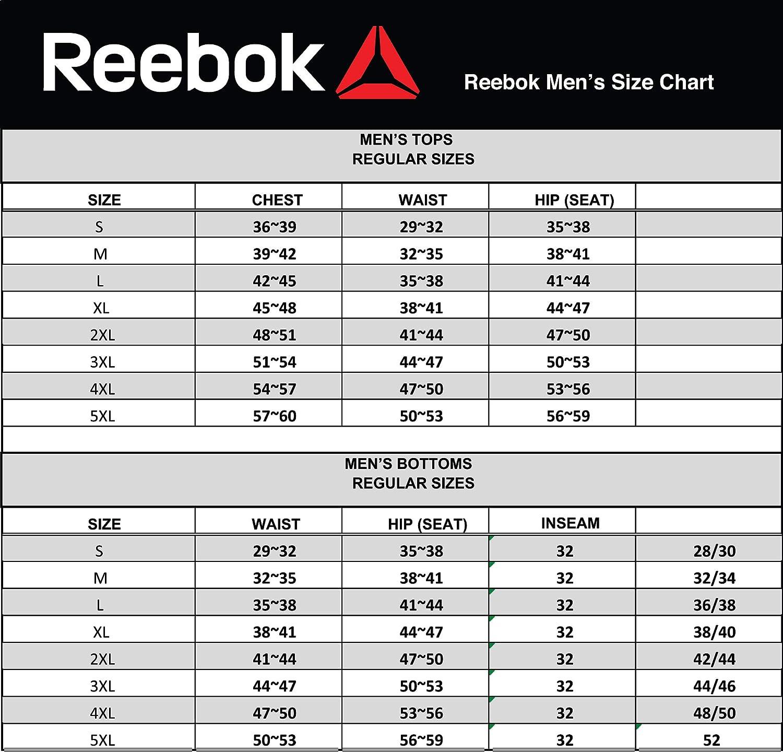 Medium Reebok Mens Jogger Running Pants with Pockets Athletic Workout Training /& Gym Sweatpants Moto Cross Black