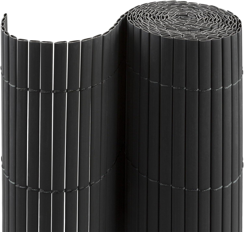 Balcone e Terrazza 80 x 300 cm jarolift Canniccio PVC Recinzione Paravista per Giardino Simile a RAL 8023 Marrone