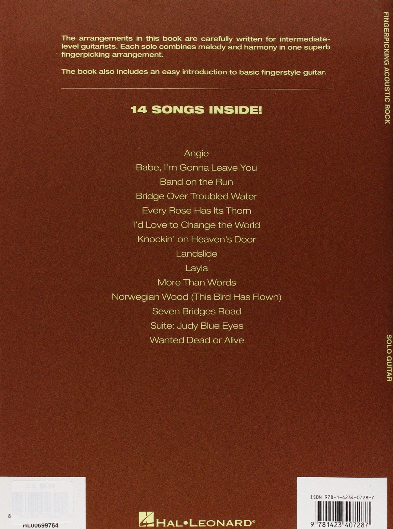 Amazon Fingerpicking Acoustic Rock 14 Songs Arranged For Solo