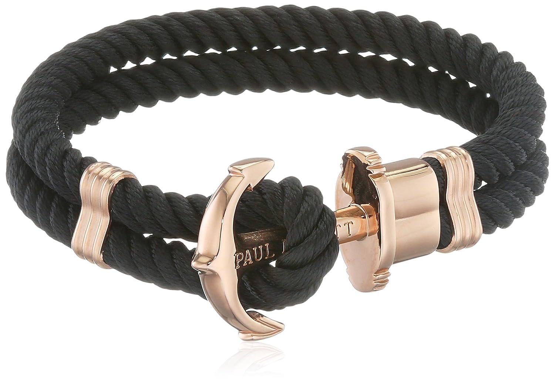 PAUL HEWITT Damen Ankerarmband PHREP aus Nylon in Schwarz und Anker in IP Roségold Größe XS bis XXXL