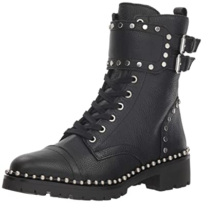 e0316aaa1 Sam Edelman Women s Jennifer Combat Boot Black Leather 5 ...