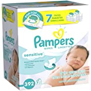 Pampers Sensitive Baby Wipes - Unscented - 392 ct