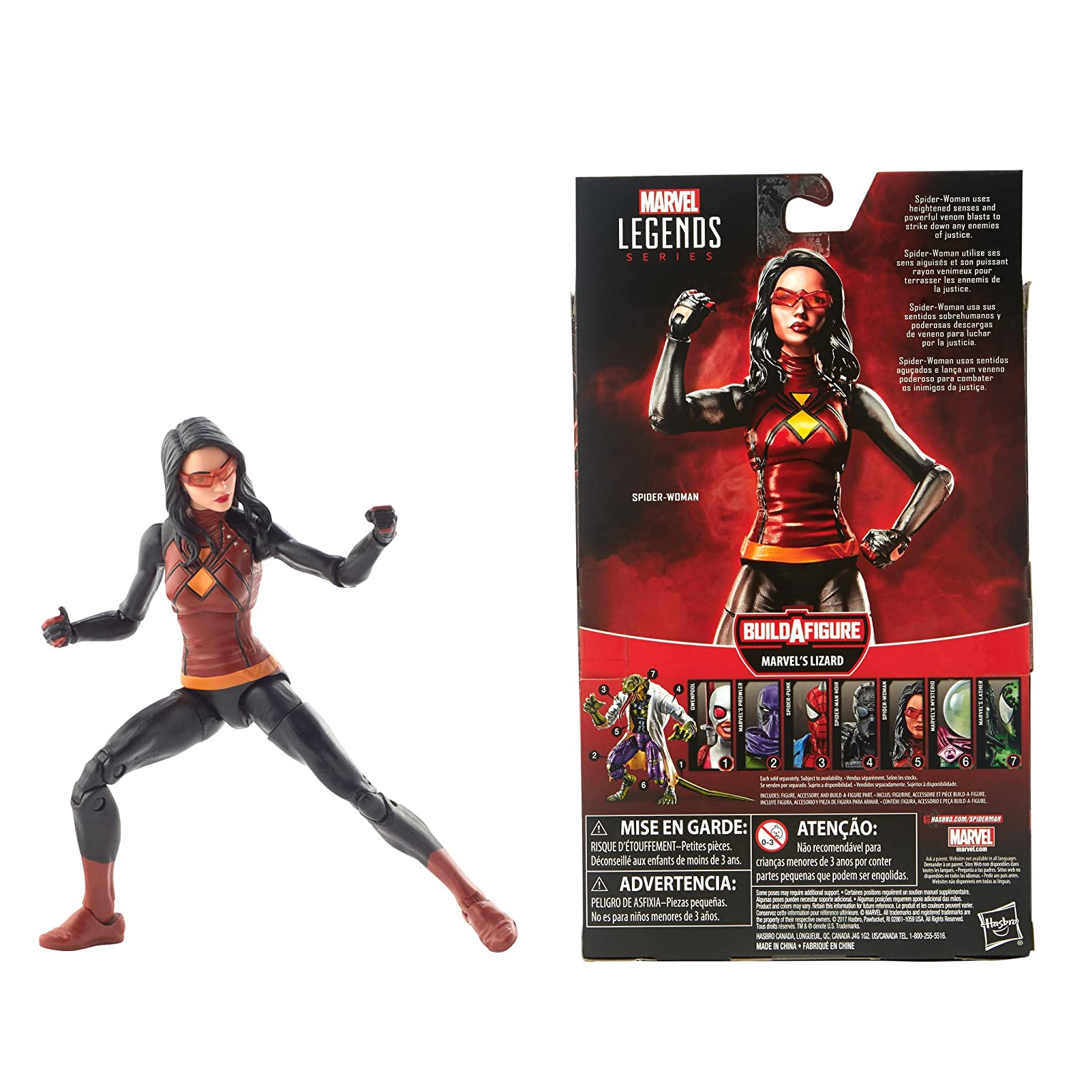 abae0aaaf1f73 Spider-Man Legends Series 6-inch Spider-Woman
