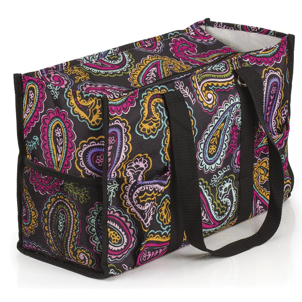 All Purpose Utility Tote Bag (17'' L x 11'' H x 6'' D, Paisley)