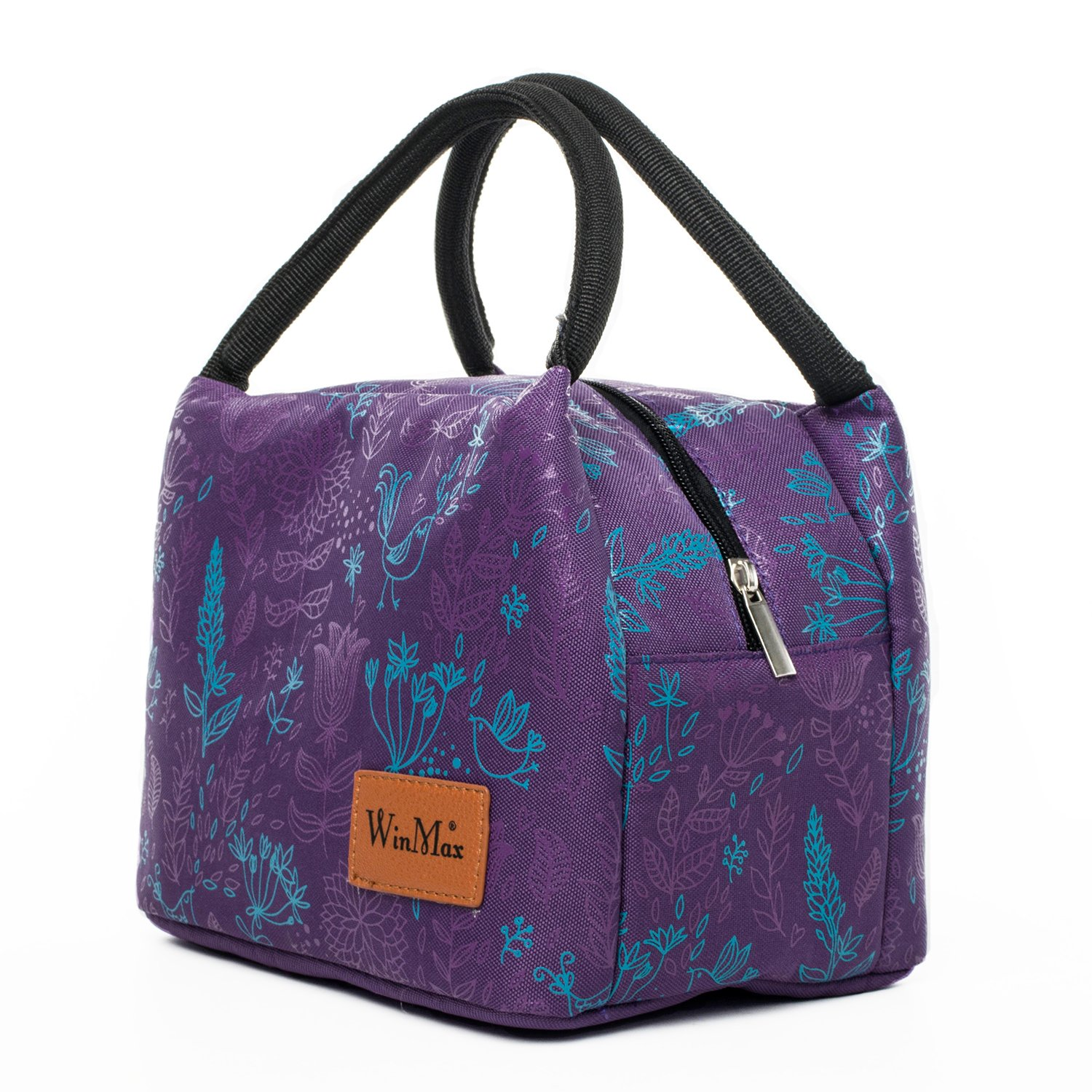 7e9c18c69c24 Winmax Insulated Lunch Box Bag, Portable Cooler Bag, Reusable Lunch Tote  Bag for Women (Purple)