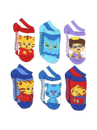 Daniel Tigers Toddler Boy Socks 6 Pair Low Cut Boys Socks Fits 2T-4T b77ac9b14