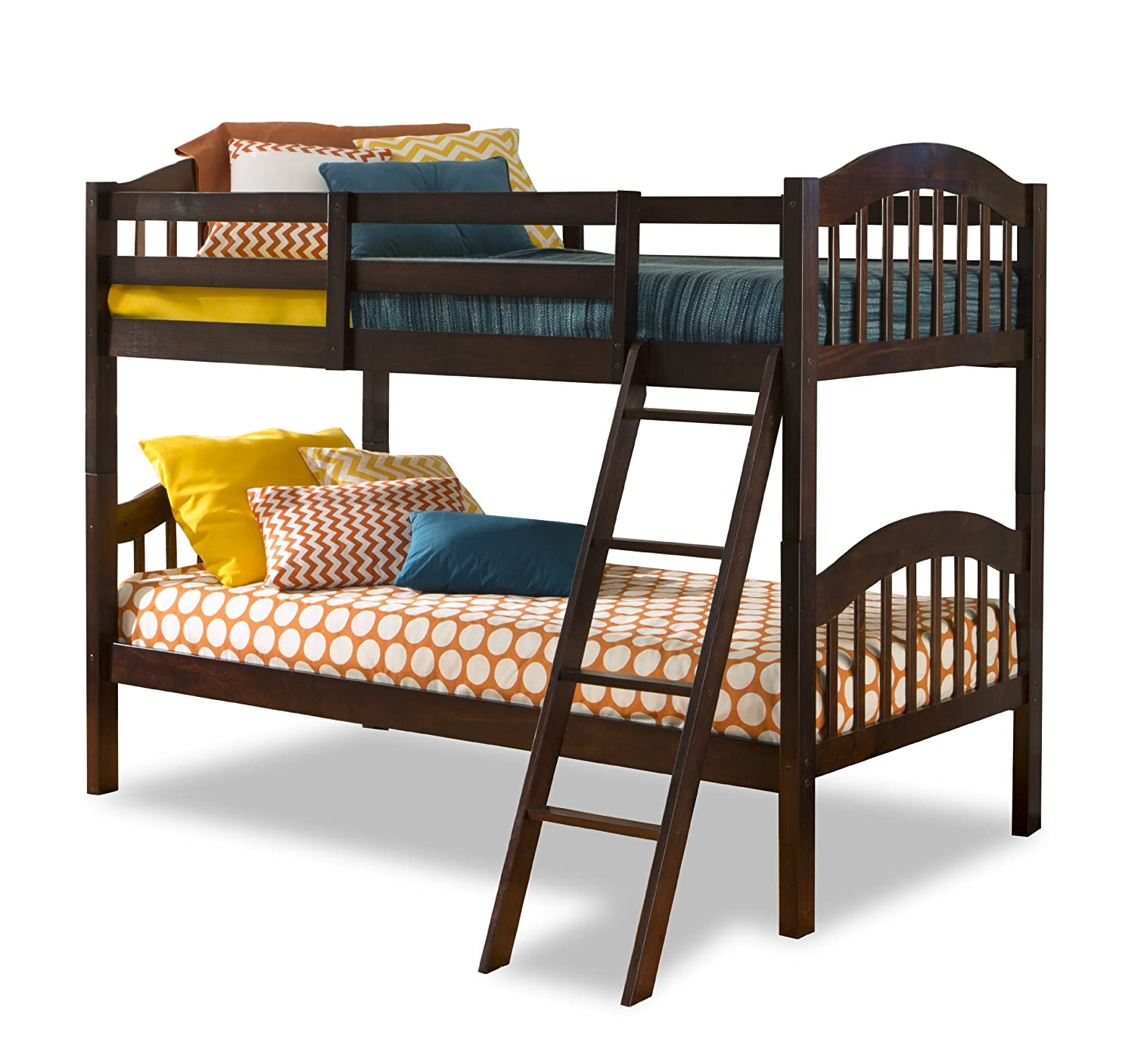 Amazon.com: Storkcraft Long Horn Solid Hardwood Twin Bunk Bed, Espresso:  Baby