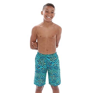 8f34133c8f8e7 Zoggs Boy's Techno Swirl Swimming Shorts-Multi-Colour, Large/27-Inch ...