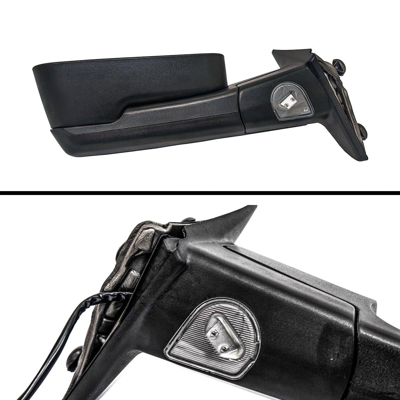 Paragon Towing Mirrors for 2010-18 Dodge Ram 1500//2500//3500 Puddle Light Temp Sensor Heated Power Folding Turn Signals Black Pair Set