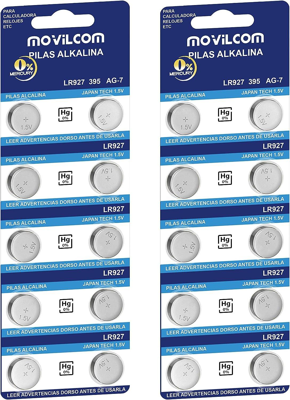 Movilcom 20 Knopfzellen Ag7 Uhrenbatterien 1 5 V Elektronik