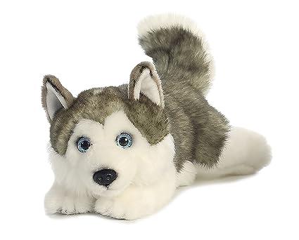 Amazon Com Aurora World Miyoni Lying Husky Plush 26263 Toys Games