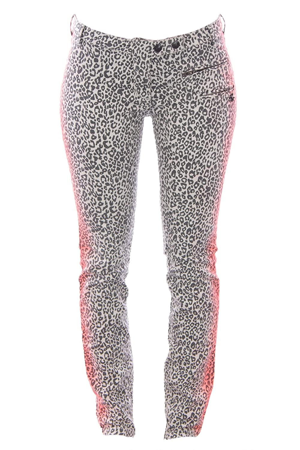 Maison Scotch Skinny Jeans, Color Leopard Pattern