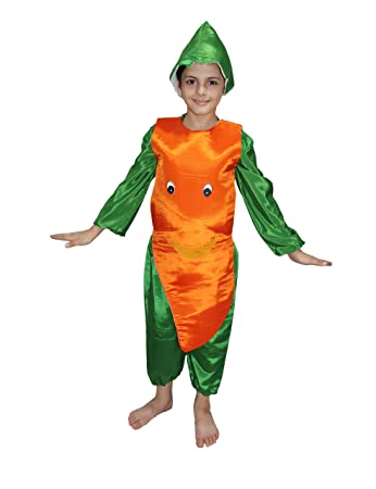 b59a83651700 Buy Kaku Fancy Dresses Carrot Fruits Costume for School Annual  Function/Theme Party/Competition/Stage Shows Dress Online at Low Prices in  India - Amazon.in