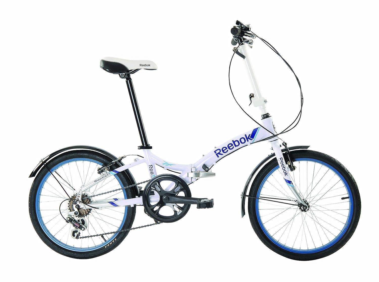 Reebok Fitness - Bicicleta plegable (50,8 cm), color blanco y gris: Amazon.es: Deportes y aire libre