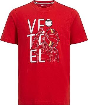 Camiseta roja de la Marca Sports Merchandising B.V. Scuderia Ferrari F1 Sebastian Vettel: Amazon.es: Deportes y aire libre